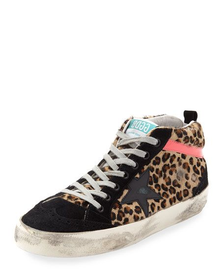 Get free shipping on Golden Goose Mid-Top Leopard Calf Hair Sneaker at  Neiman Marcus. Shop the latest luxury fashions from top designers. ff24edddb5ce