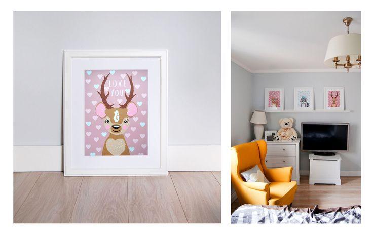 Cutout illustrations made for Mania, my little nice. Raccoon, bear, deer. A3 size. Made by Malgorzata Szymakowska