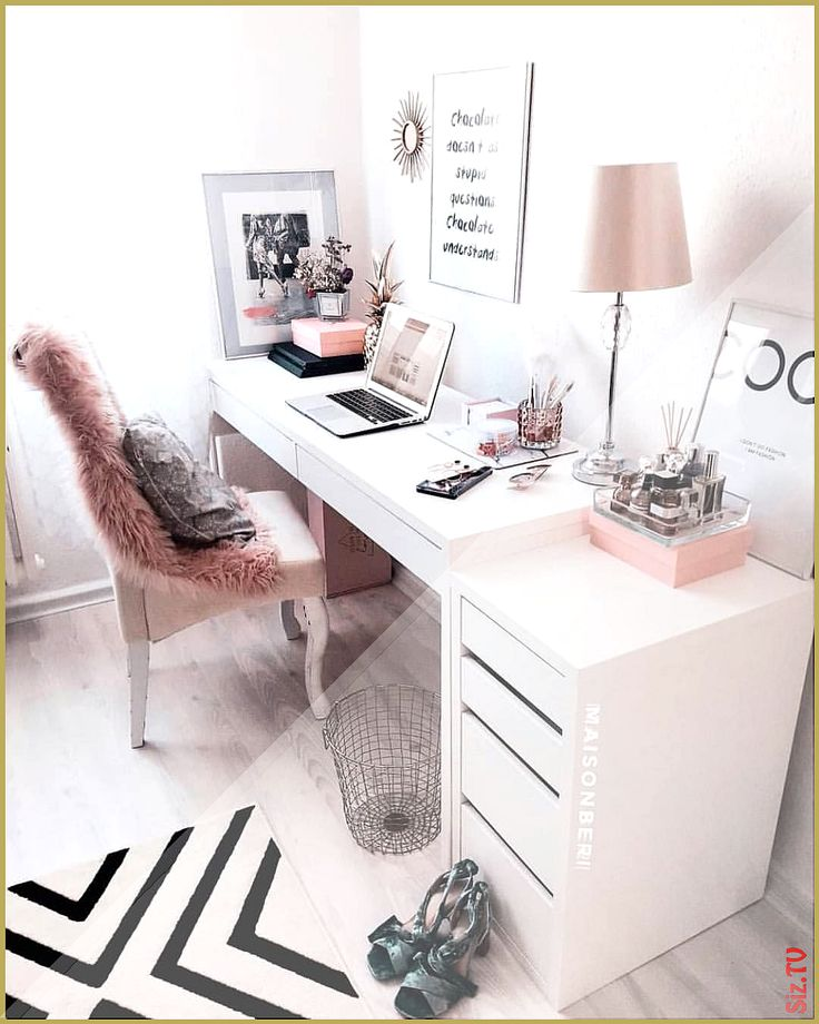 Cute Officedesk Ideas: Comfy Evening To All Office Girly Stylish Interior Design