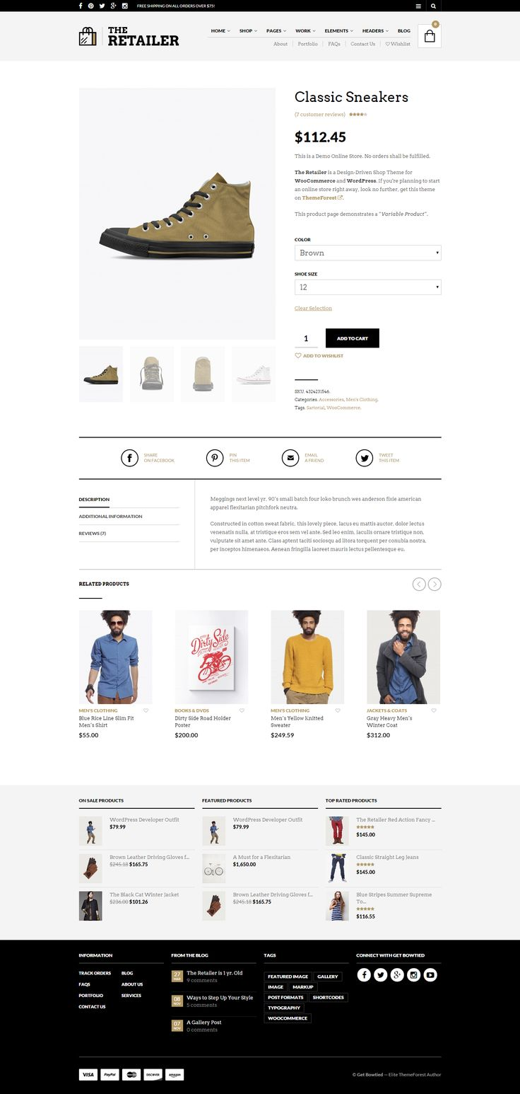 The Retailer WordPress & WooCommerce Theme: http://themeforest.net/item/the-retailer-responsive-wordpress-theme/4287447?ref=getbowtied #wordpressthemes #wordpress #wordpressdesign #webdesign