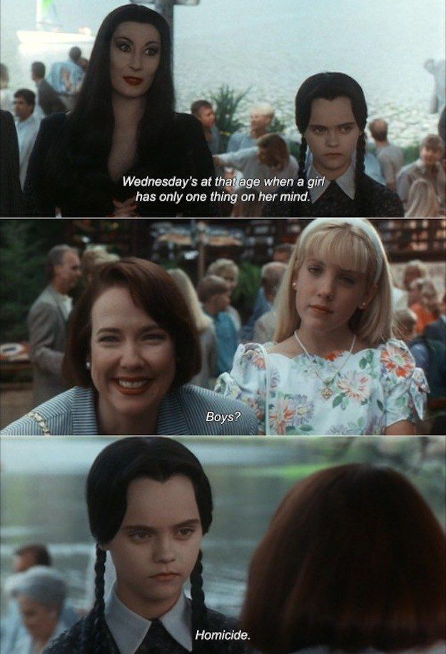 When she had her priorities straight. Real straight. | 19 Times Wednesday Addams Was A Total Misandrist
