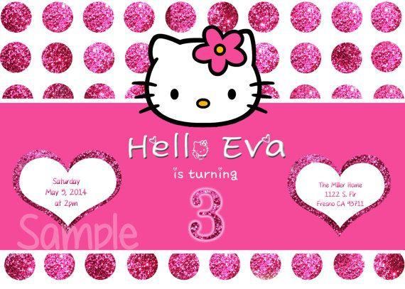 31 best Hello Kitty images – Custom Hello Kitty Birthday Invitations
