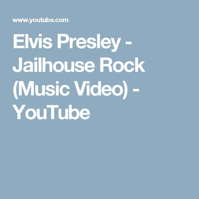 Elvis Presley - Jailhouse Rock (Music Video) - YouTube