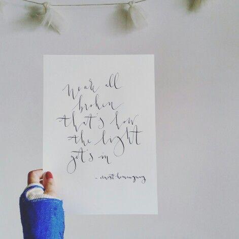 Van Moois quotes Hemingway.