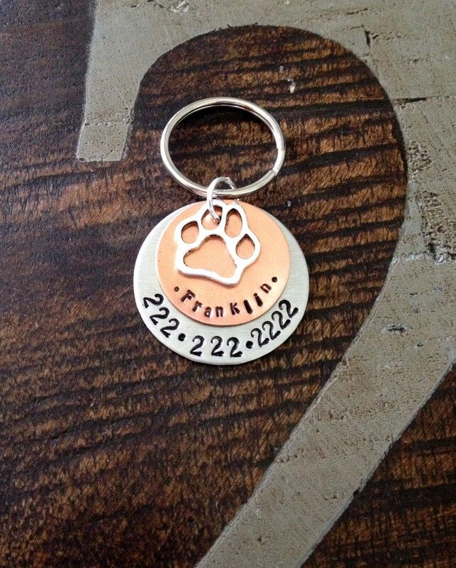 Pet Tag Handstamped Dog Tag Dog ID Tag Pet Tag for Dogs Custom Dog Tag Copper Dog ID Tag Handstamped Pet Tag Personalized Dog Tag by BlueEyedJewelsTX on Etsy https://www.etsy.com/listing/198479105/pet-tag-handstamped-dog-tag-dog-id-tag