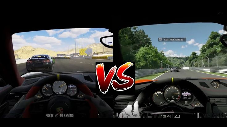 FORZA 7 vs GT SPORT - Xbox One X vs Ps4 PRO - Gameplay - In Cockpit View...