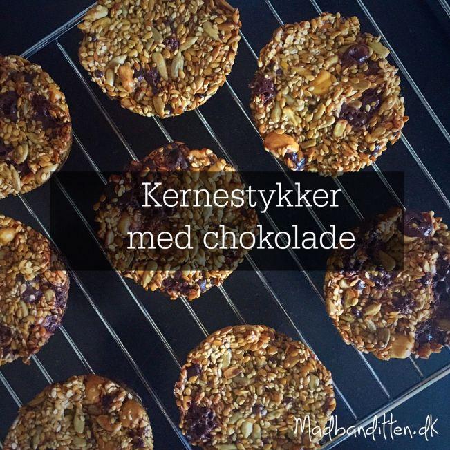 Paleo-boller / kernestykker med chokolade. Glutenfrie --> madbanditten.dk