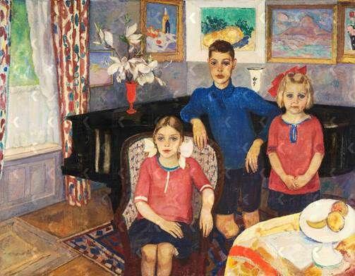 Jan Sluijters, De kinderen Van Blaaderen-Hoogendijk, 1921, Caldic Collectie (niet te zien in de tentoonstelling).