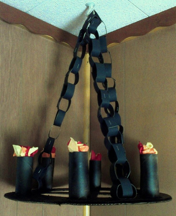 Menu Ideas for Busy Moms: DIY Medieval Torches, Chandeliers, and Banners -- This is awesomeness!!!!