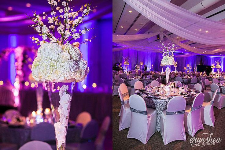 Decor by It's a Swanky Affair at St. Clair Center for the Arts. Captured by Eryn Shea Photography. www.weddingshows.com