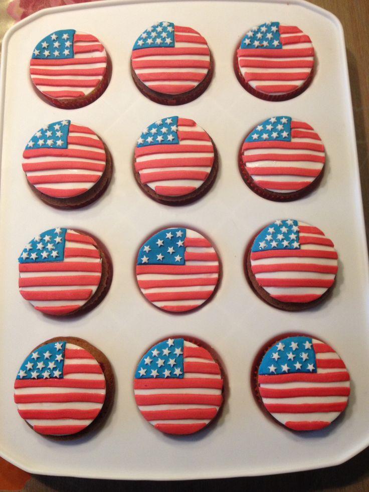 Amerikaanse vlag / american flag cupcakes