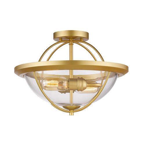 persis satin gold two light semi flush mount z lite semi flush flush u0026 semi flush