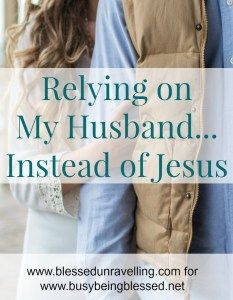 In relying on my husband for spiritual and emotional support instead of Jesus, I was doing a disservice to to my marriage and my relationship with God.