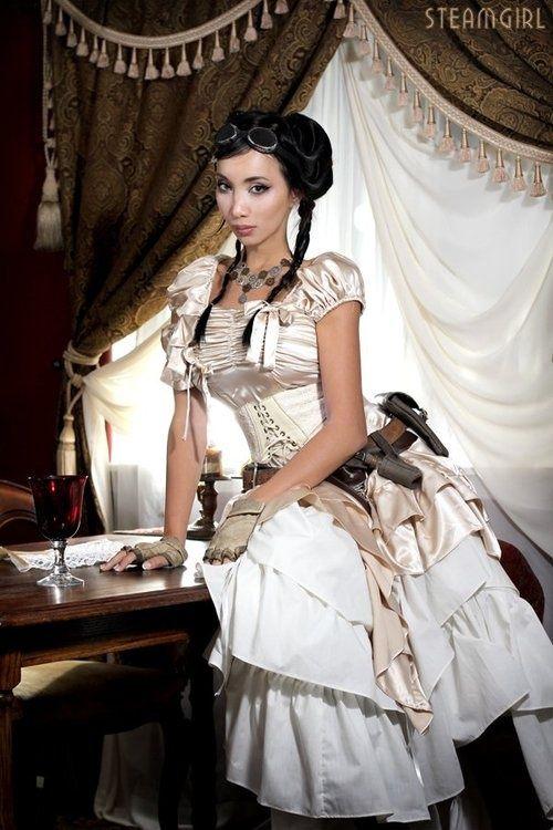 Steampunk Girl.  Ce n'est pas celle qui est dans Néo-Versailles du Visiteur du Futur ?