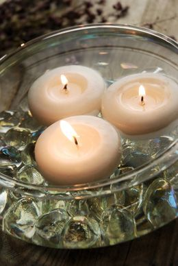 Glass Floating Candle Bowls