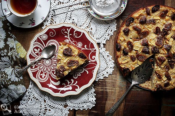 Fig & Honey Apple Polenta Cake | Bustrengo | Recipe