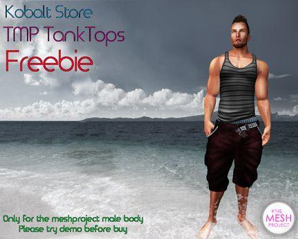 Kobalt Store Tank Top TMP Freebie ( temporal )