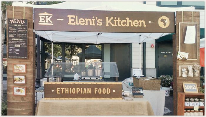 Farmer 39 s market booth environment design for eleni 39 s kitchen farmers craft show booths and tent - Food booth ideas ...