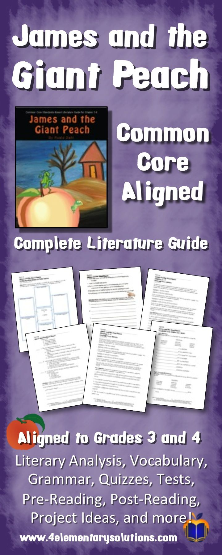 James And The Giant Peach Activities Lessons Assessment
