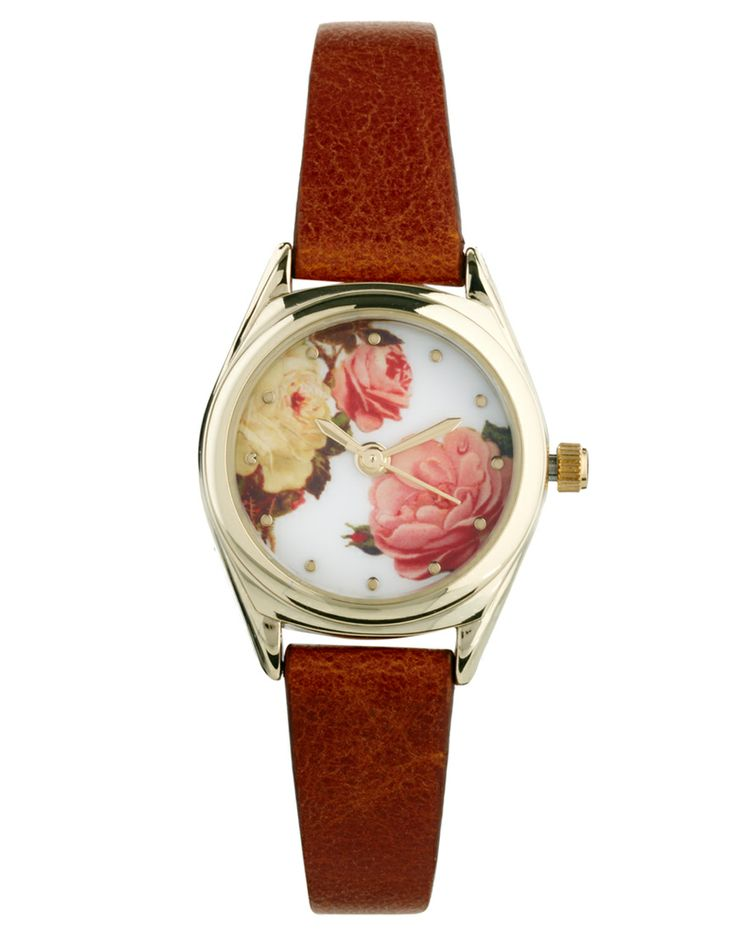 ASOS Vintage Style Floral Dial Watch