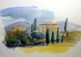 Watercolor. Toscana.
