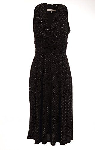 Evan Picone Halter Ruched Studded Womens Empire Waist Dress 133 Black 6 * You can find out more details at the link of the image.