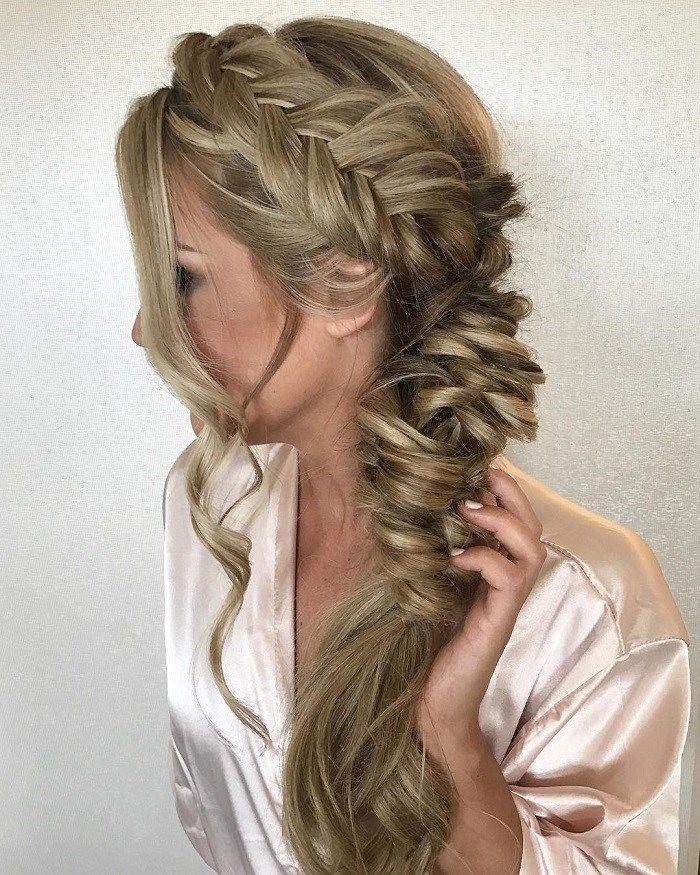 Dutch crown braided turn to fishtail braided hairstyle,boho hairstyle,side fishtail braided hairstyles #fishtailbraid #dutchbraids #dutchfishtailbraid #frenchbraid