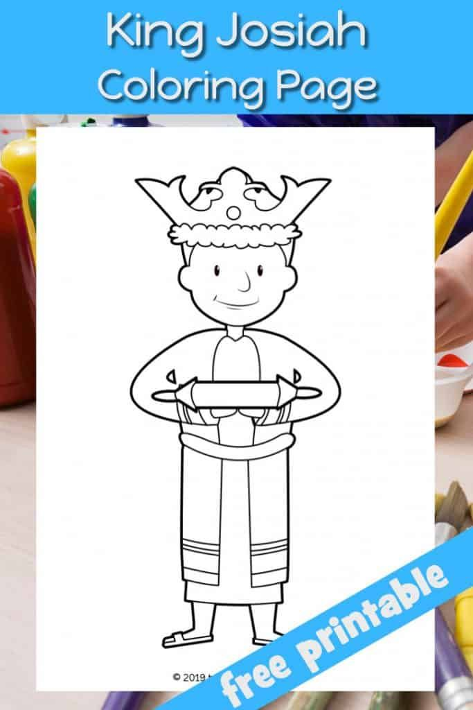 King Josiah Coloring Page Use At Home Church Or Sunday School