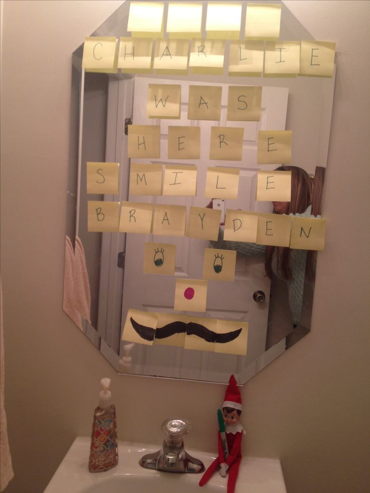 Elf-on-the-Shelf Post-It Notes