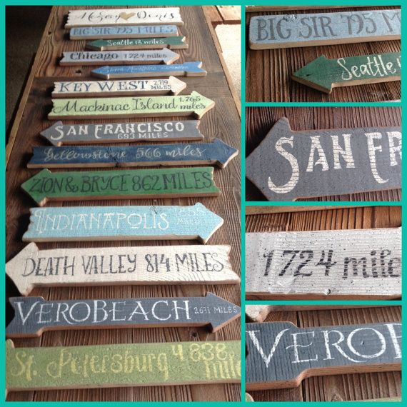 Beach Directional Signs Rustic Directionl by WoodenKnotDesign