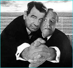 Walter Mathau (October 1, 1920 - July 1, 2000) and Jack Lemmon (February 8, 1925 -  June 27, 2001)