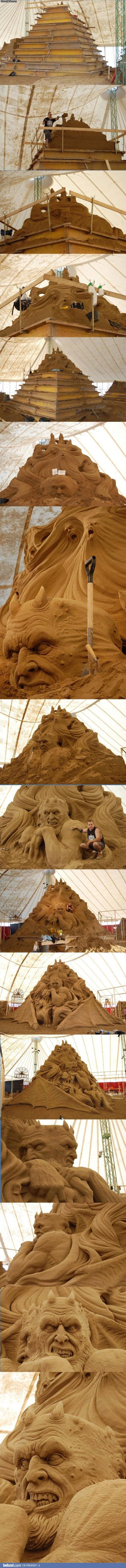 piece of art made of sand