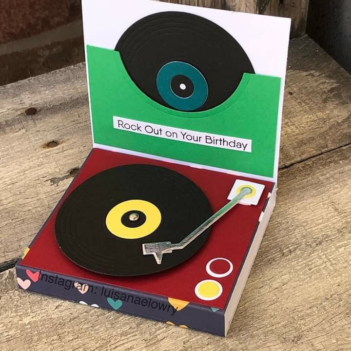Card Record Player For The Record Lp Vinyl Mft Turnable Die Namics Mftstamps Embossed Cards Record Player Card Musical Cards