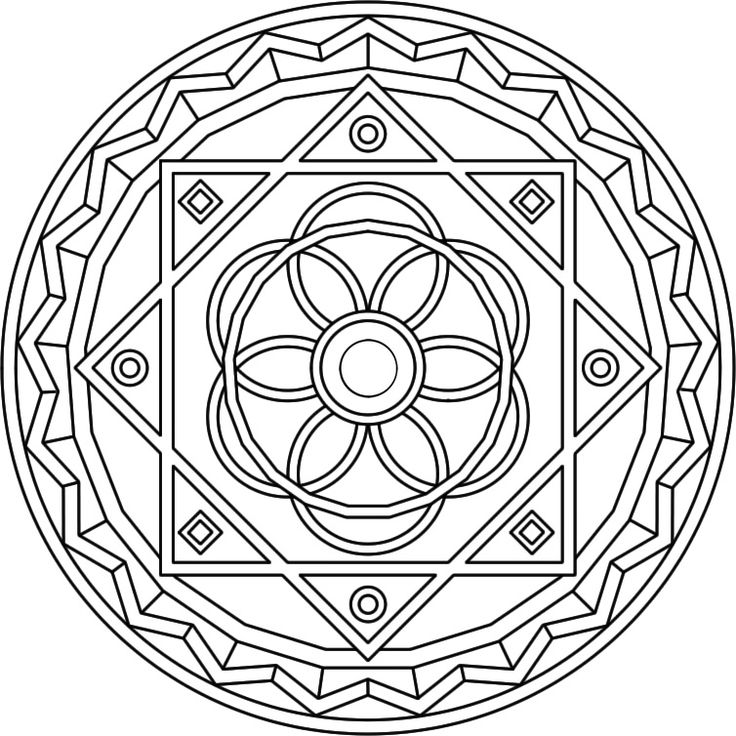 Mandala Coloring Pages Advanced Level - AZ Coloring Pages