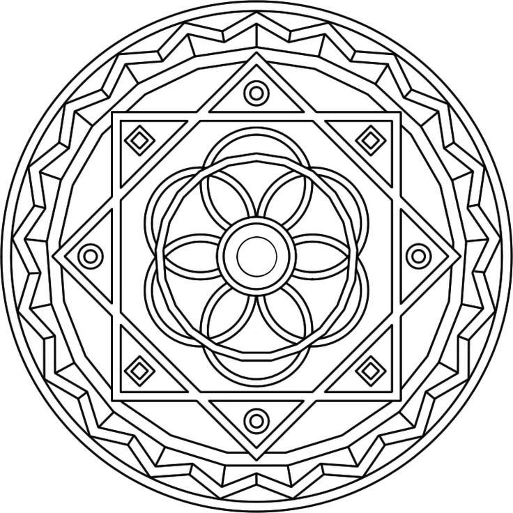 Mandala Coloring Pages Advanced Level - AZ Coloring Pages