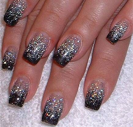 nails black and silver holiday | View full size of Acrylic Black And Silver Nail Designs