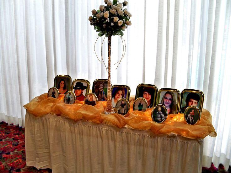Grandchildrens Table At The 50th Wedding Anniversary Celebration Dinner