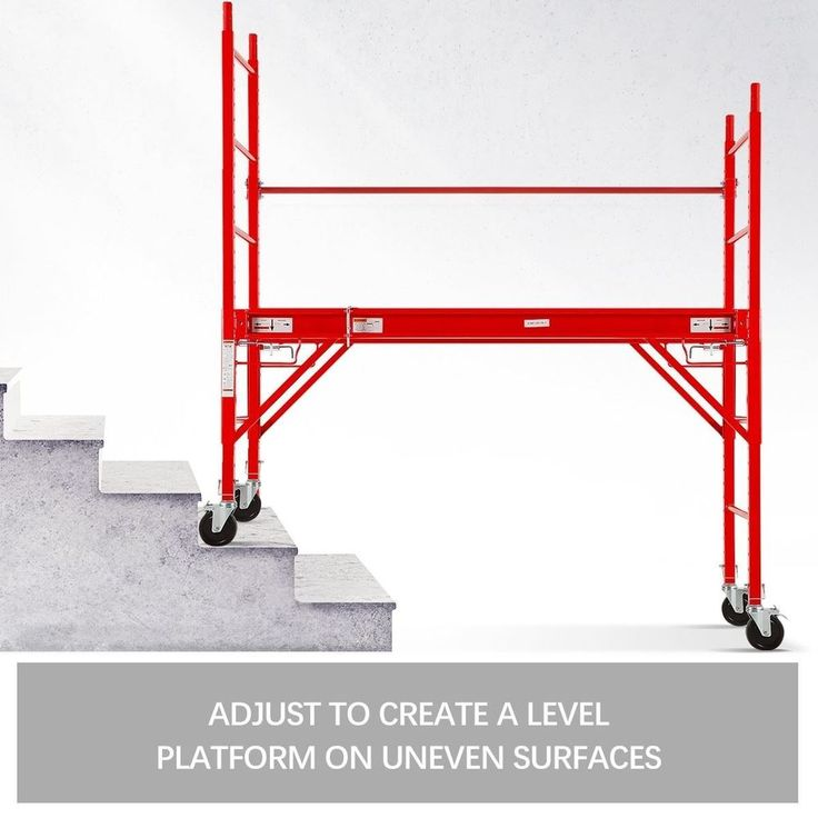 450KG Mobile Safety Scaffold High Work Platform Portable Scaffolding Ladder