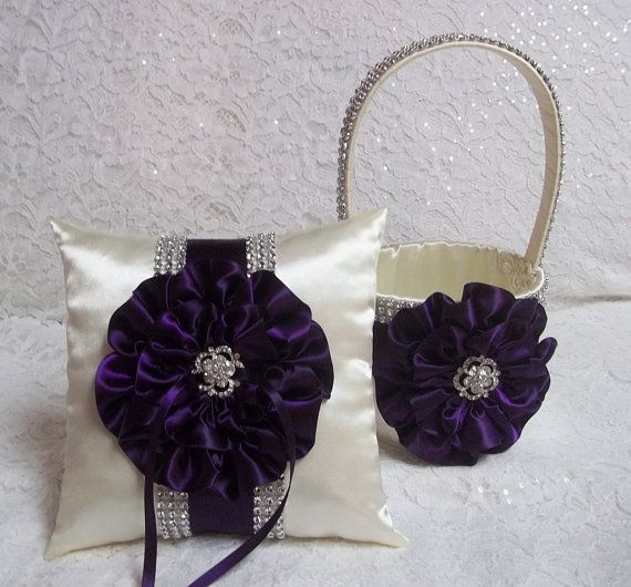 Hey, I found this really awesome Etsy listing at https://www.etsy.com/listing/156619200/deep-plum-purple-flower-girl-basket-and