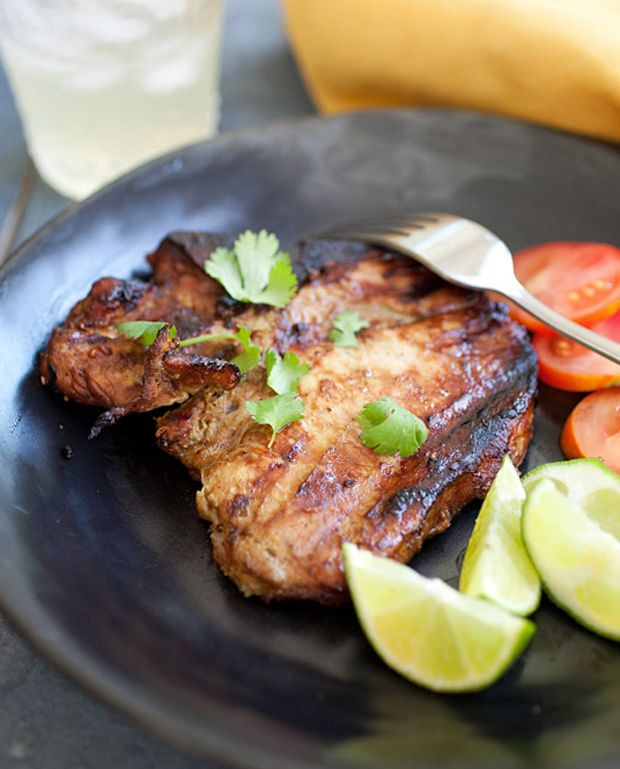 Thai BBQ Pork Chops Recipe - RecipeChart.com