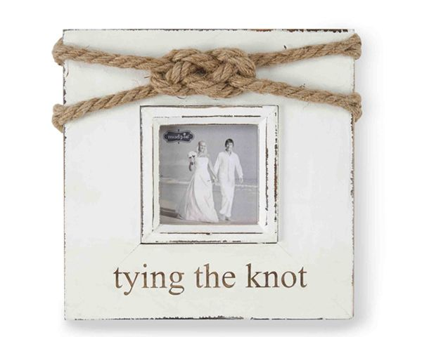 Wedding Gift Ideas The Knot : tying the knot photo frame makes a cute gift for the couple ...