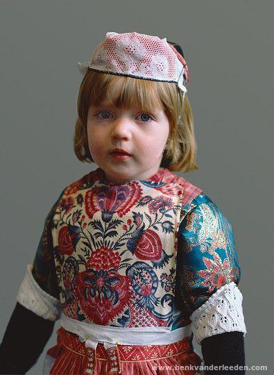 Europe | Portrait of a child wearing traditional clothes, Marken (1969-1998), North Holland, The Netherlands | Henk van der Leeden