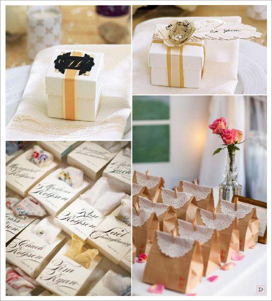 cadeaux invites retro vintage boite dragees medaillon sac papier_bonbons kraft mouchoir