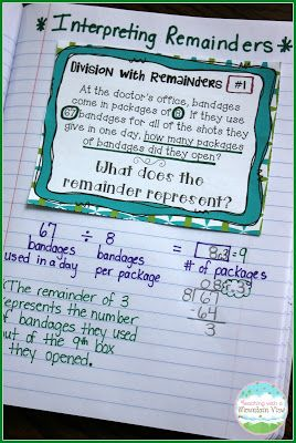 After students can compute with long division, they need to know exactly what it is they are computing!  They must be explicitly taught interpreting remainders, and these task cards help them see what to do with each remainder they come across.