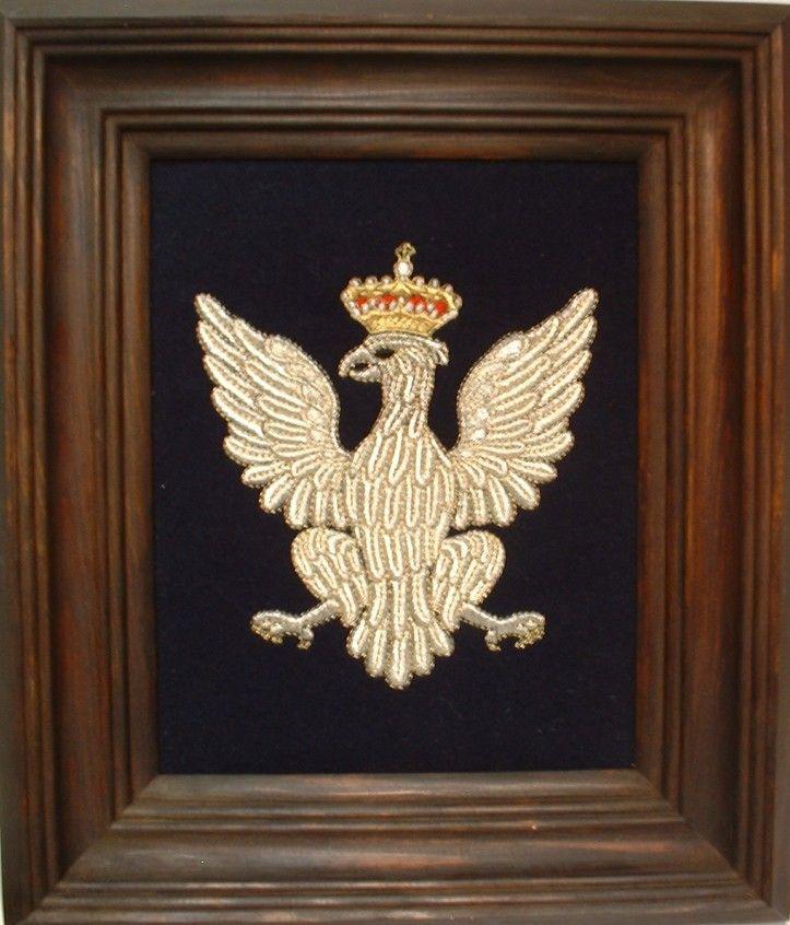 Replika orła z zaplecka sali tronowej Zamku Warszawskiego