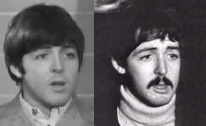 The photo on the left is James Paul McCartney on August 19 ...