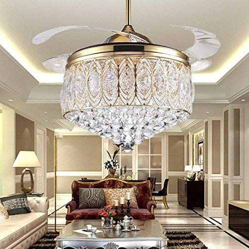 Rs lighting simple modern artistic 42 inch crystal ceiling fan light rs lighting simple modern artistic 42 inch crystal ceiling fan light kit with remote control aloadofball Image collections