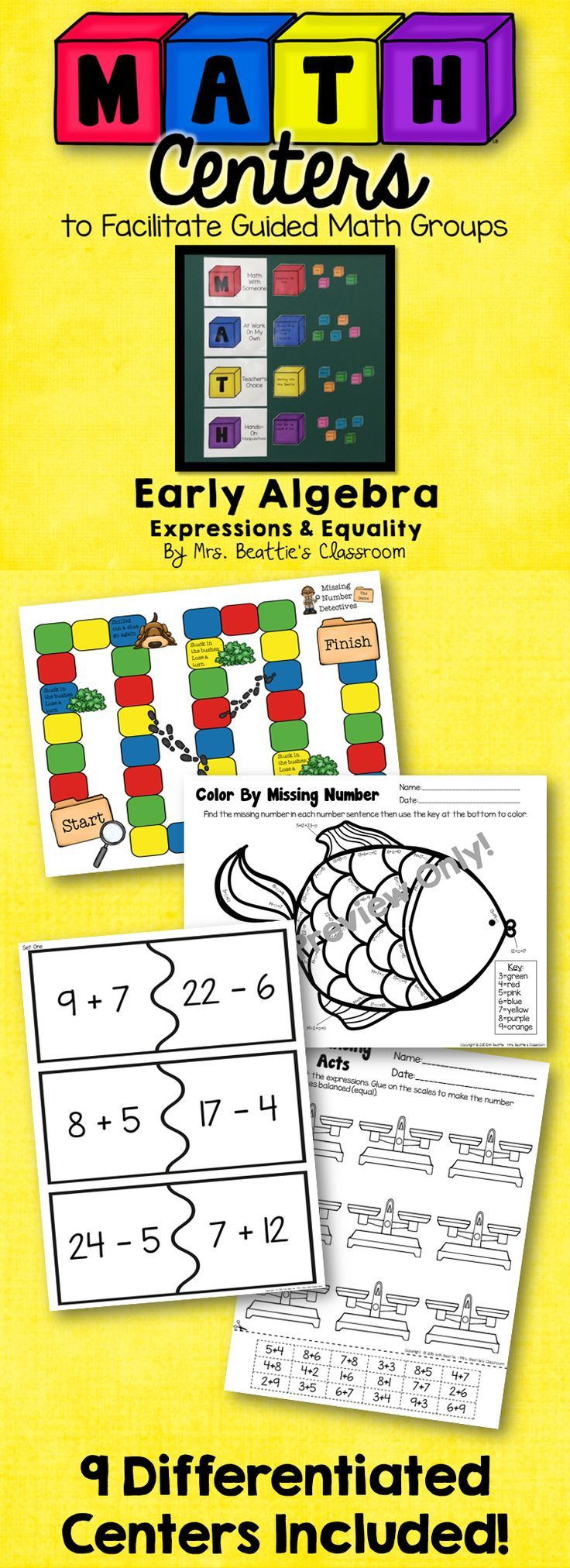 46 best middle school patterns algebra images on pinterest guided math centers early algebra expressions equality fandeluxe Image collections