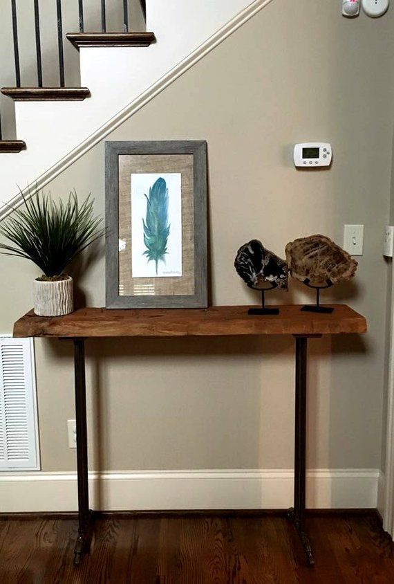 Narrow Console Table Reclaimed Wood Table Accent Table Long Etsy