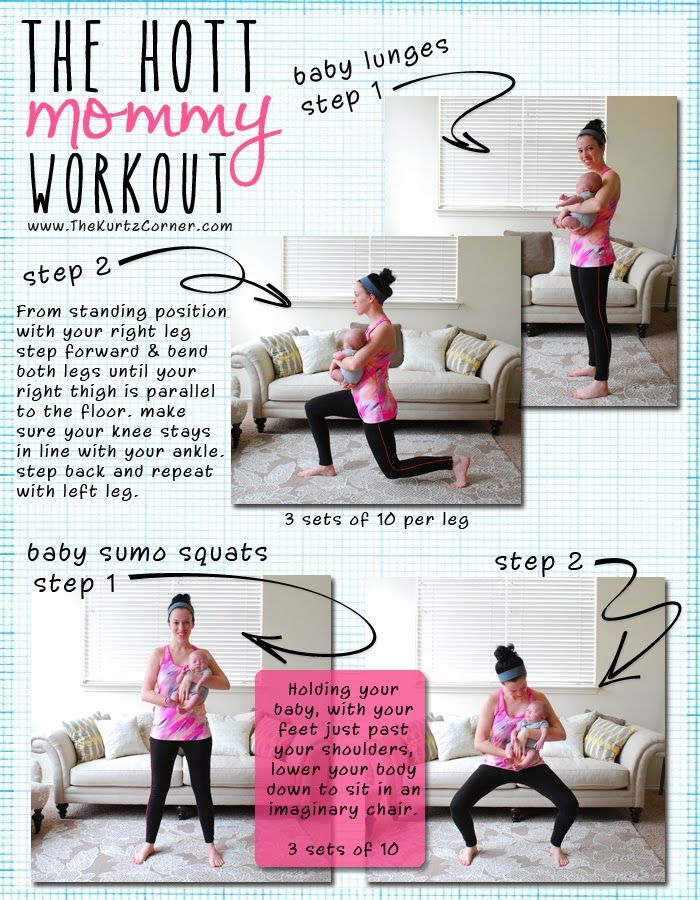 Perfect for the 8 week old. All the other workouts I found are for a baby that can hold their heads up.